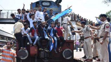Photo of کٹنی میں کانگریس کارکنان کی ٹرین روکنے کی کوشش