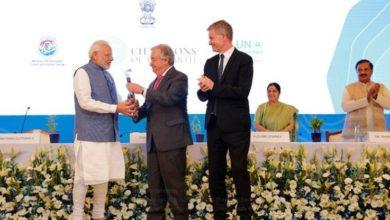 Photo of پی ایم مودی بنے 'چمپئنس آف دی ارتھ'، اقوام متحدہ کے جنرل سکریٹری نے دیا ایوارڈ
