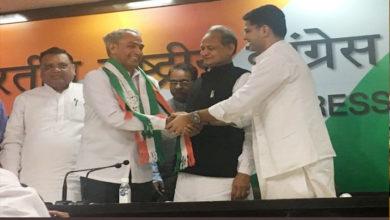 Photo of راجستھان: اسمبلی انتخابات سے پہلے بی جے پی کو جھٹکا، رکن پارلیمان ہریش چندر کانگریس میں شامل