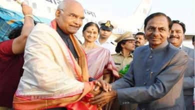 Photo of صدر جمہوریہ رام ناتھ کووند پہنچے حیدرآباد