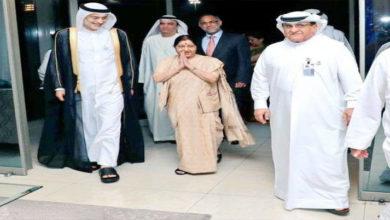 Photo of سشما سوراج کی ابو ظہبی آمد