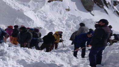 Photo of لداخ میں برفانی تودہ گرنے سے دس افراد زندہ دفن، پانچ کی لاشیں برآمد