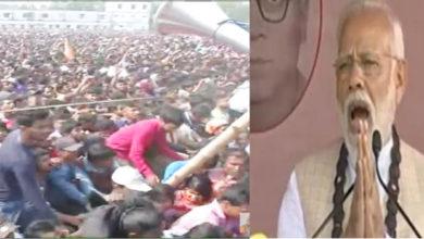 Photo of مغربی بنگال: مودی کی ریلی میں بھگدڑ کی کیفیت، خطاب مختصر کرنے پر ہوئے مجبور