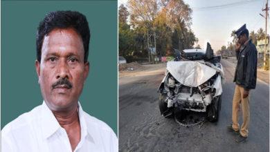 Photo of اے آئی اے ڈی ایم کے رکن پارلیمان سڑک حادثہ میں ہلاک، ڈرائیور زخمی