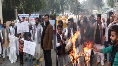 Photo of آل انڈیا شیعہ سنی فرنٹ کا پاکستان کے خلاف مظاہرہ