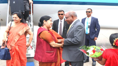 Photo of سشما سوراج دو دنوں کے دورے پر پہنچیں مالدیپ، عبداللہ شاہد نےکیا خیر مقدم