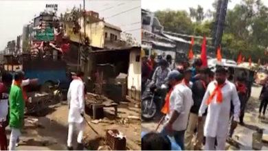 Photo of ہندوسینا کی غنڈہ گردی، تلواروں کے زور پر بند کروائیں گوشت کی دکانیں