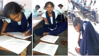 Photo of 'حوصلے اور جذبے کو سلام'، پڑھائی کا ایسا جنون کہ پاؤں سے لکھ کر دے رہی ہیں امتحان