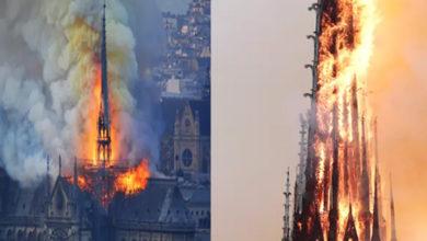 Photo of پیرس کے تاریخی چرچ میں میں شدید آتشزدگی، پورا شہر ہوا دھواں دھواں
