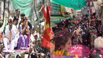 Photo of جھانسی میں پرینکا گاندھی کا روڈ شو، عوام کا جم غفیر