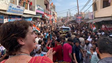 Photo of سہارنپور اور بجنور میں پرینکا کا روڈ شو
