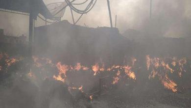 Photo of بلند شہر کی تھرما کول فیکٹری میں زبردست آتشزدگی، لاکھوں کا سامان راکھ