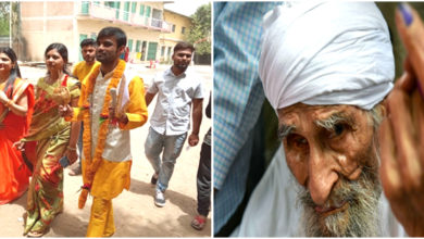 Photo of دہلی کے 111 سالہ ووٹر نے کیا ووٹنگ، بھوپال میں شادی سے پہلے ووٹنگ کرنے پہنچا جوڑا