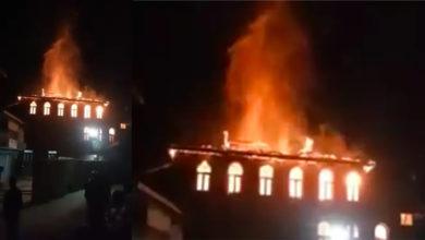 Photo of جموں وکشمیر: بانڈی پورہ میں آگ کی ہولناک واردات، 'مسجد نور' جل کر خاک
