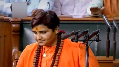 Photo of پارلیمنٹ میں پہلا دن، تنازعہ میں سادھوی
