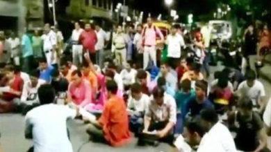 Photo of سڑک پر نماز کے خلاف بی جے پی کا مظاہرہ