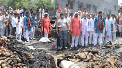 Photo of نندنگری سبزی منڈی میں لگی آگ، کئی درزن دکانیں جل کر خاک