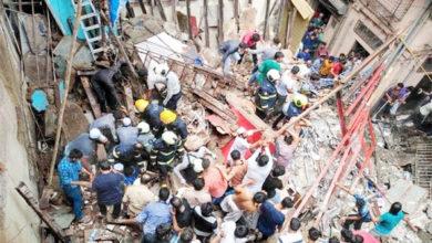 Photo of ممبئی میں سوسالہ 4منزلہ عمارت منہدم ،2 کی موت