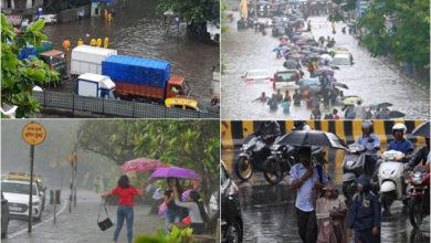Photo of ممبئی میں طوفانی بارش، نشیبی علاقے زیر آب