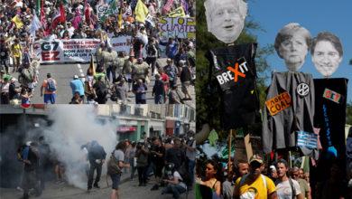 Photo of فرانس میں جی-7 مذاکرات کے آغاز سے قبل احتجاج و مظاہرہ