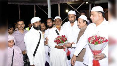 Photo of کرناٹک: حجاج کے پہلے قافلہ کی آمد، تلنگانہ کے وزیر داخلہ نے کیا استقبال