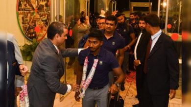 Photo of سخت سیکورٹی کے درمیان پاکستان پہنچی سری لنکائی ٹیم