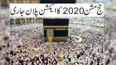 Photo of حج مشن 2020 کا ایکشن پلان جاری