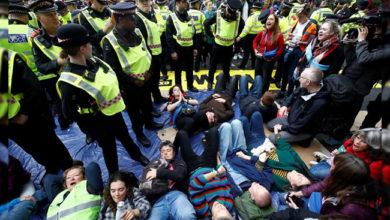 Photo of لندن میں 600 ماحولیاتی کارکن گرفتار