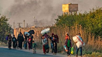 Photo of ترکی کی فوجی کارروائی کے بعد شام میں بڑے پیمانے پر لوگوں کی نقل مکانی