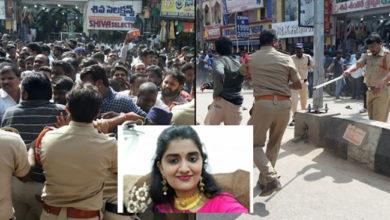 Photo of پرینکا ریڈی قتل معاملہ: مظاہرین نے گھیرا تھانہ، پولیس نے کیا لاٹھی چارج