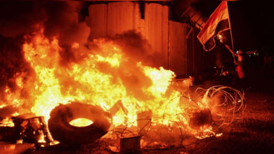 Photo of عراق: مظاہرین نے ایرانی قونصل خانے میں لگائی آگ