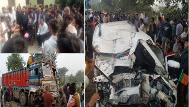 Photo of جھارکھنڈ میں دردناک سڑک حادثہ، سابق وزیر کے بھانجے سمیت 5 ہلاک