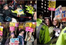 Photo of بورس جانسن کی فتح کے بعد لندن میں جھڑپیں