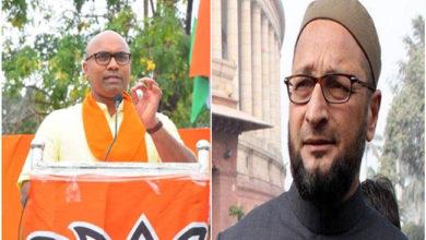 Photo of بی جے پی ممبرپارلیمنٹ نے دی اویسی کو دھمکی، کہا 'الٹا لٹکا کر داڑھی منڈواؤں گا'