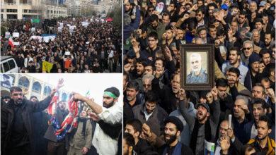 Photo of قاسم سلیمانی کی ہلاکت: ہزاروں افراد کا احتجاجی مظاہرہ، امریکہ مخالف نعرے بازی