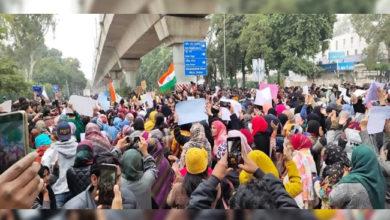 Photo of دہلی بھر میں سی اے اے، این آر سی، این پی آر کی مخالفت میں احتجاج جاری