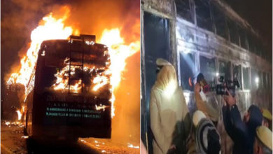 Photo of قنوج بس حادثہ: 35 مسافر زندہ جلے، فارنسک ٹیم نے شروع کی تحقیقات