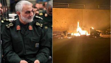 Photo of امریکی فضائی حملے میں ایرانی قدس فورس کے سربراہ قاسم سلیمانی ہلاک