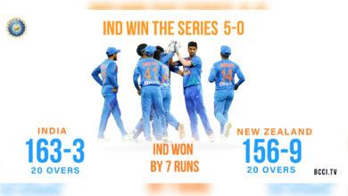 Photo of ہندوستان بمقابلہ نیوزی لینڈ: ٹیم انڈیا کا تاریخی کارنامہ، 0-5 سے کیا کلین سوئپ