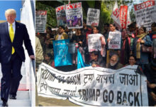 Photo of ڈونلڈ ٹرمپ کے خلاف 'واپس جاؤ' کے نعرے