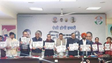 Photo of دہلی اسمبلی انتخابات: دہلی کانگریس کا انتخابی منشور جاری