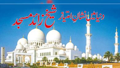 Photo of دنیا میں نشان امتیاز شیخ زائد مسجد