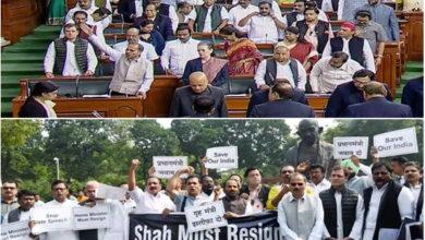 Photo of پارلیمنٹ میں گونجی امت شاہ کے استعفی کی مانگ، کارروائی پورے دن کے لئے ملتوی