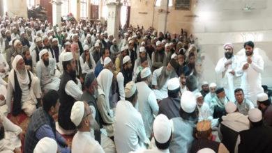 Photo of مسجد فیض الہی میں دہلی کے اماموں سے وقف بورڈ کی میٹنگ