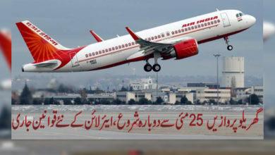 Photo of گھریلو پروازیں 25 مئی سے دوبارہ شروع، ایئرلائن کے نئے قوانین جاری