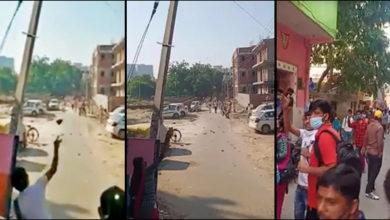Photo of لاک ڈاؤن: دہلی-گڑگاؤں سرحد پر روکا تو پولیس پر ہوا پتھراؤ