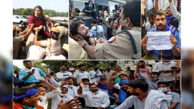 Photo of ہاتھرس گینگ ریپ کے خلاف راجدھانی میں زبردست احتجاج