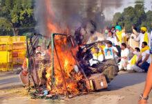 Photo of زرعی بل کے خلاف مظاہرہ، مظاہرین نے ٹریکٹر کو لگائی آگ