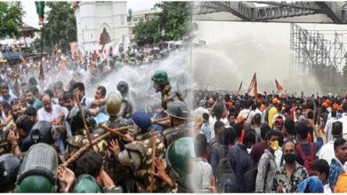 Photo of نوبنو گھیراؤ مہم: پولیس کا لاٹھی چارج، آتشی اسلحہ کے ساتھ بی جے پی ورکر گرفتار