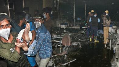 Photo of گجرات: کووڈ اسپتال کے 'آئی سی یو' میں خوفناک آتشزدگی، 5 مریضوں کی جھلس کر موت